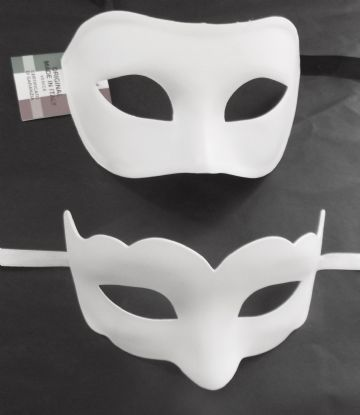 Genuine Venetian White His & Hers  Masks